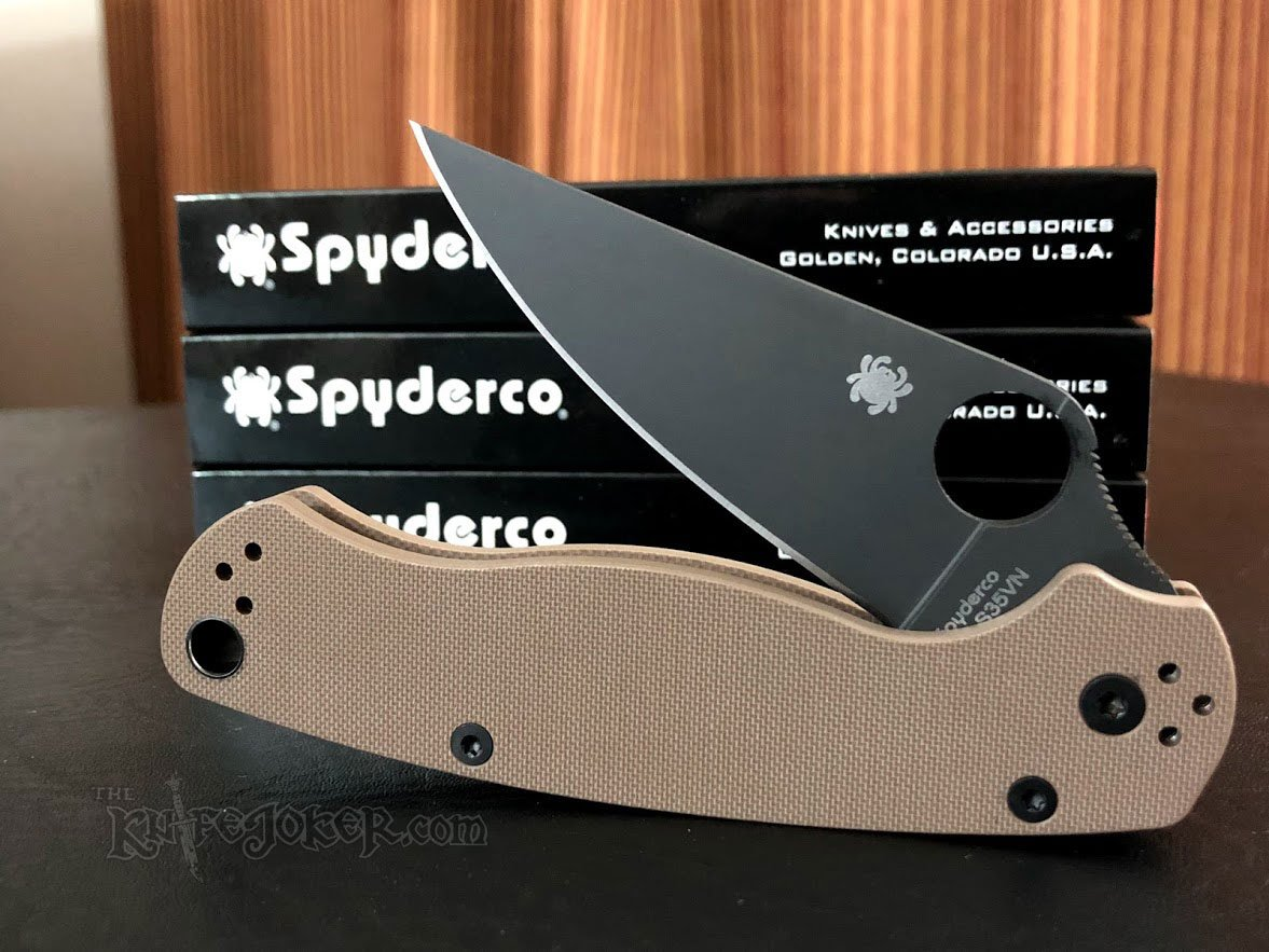 Spyderco C81GPBNBK2 Paramilitary 2 Earth Brown G-10 3 42